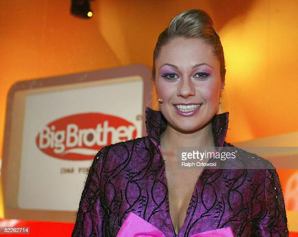 Television host Ruth Moschner attends Big Brother show at Colosseum on March 1 2005 in Cologne Germany