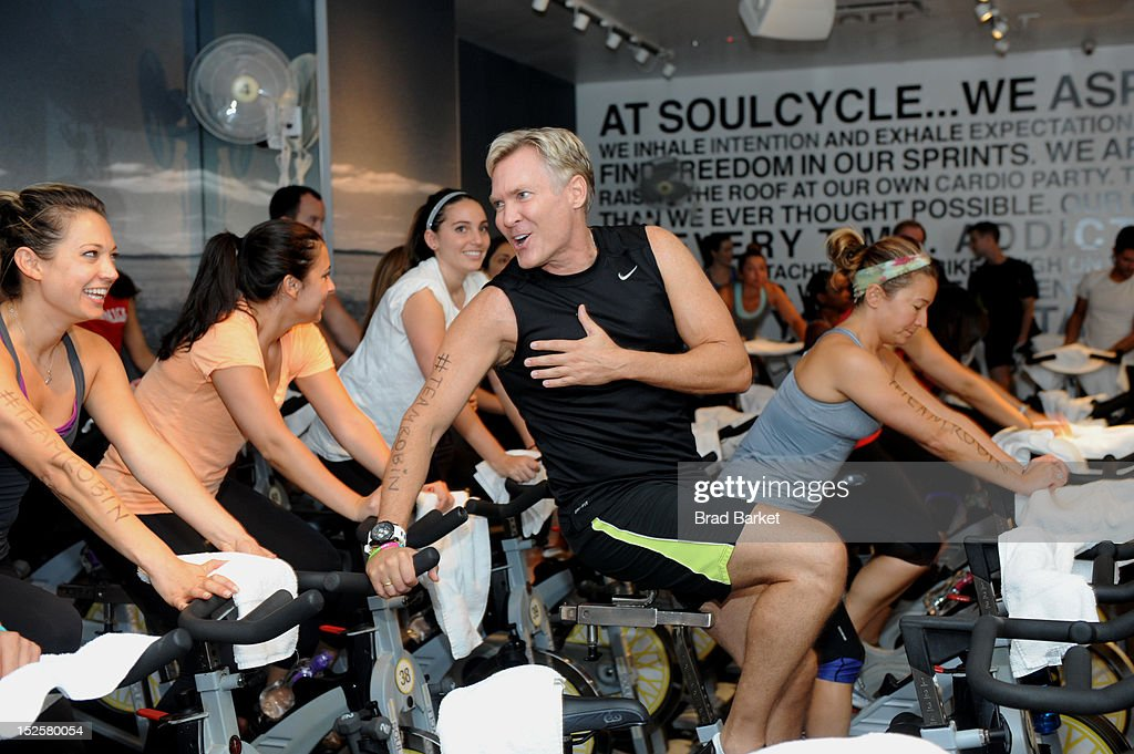 Television Host Sam Champion attends American Cancer Society & Young Friends Of The DreamBall SoulCycle Charity Ride at SoulCycle 1470 Third Ave on September 22, 2012 in New York City.