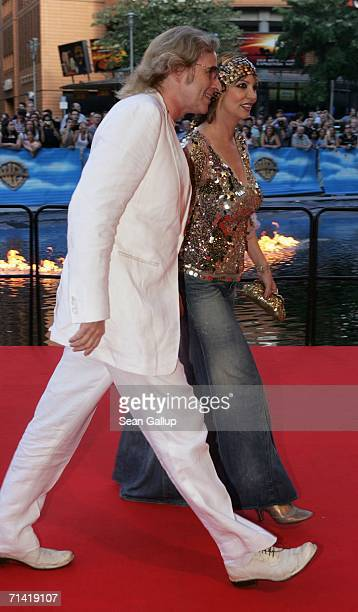 """Television host Thomas Gottschalk and his wife Thea arrive at the German premiere of """"Poseidon"""" July 11, 2006 at the Berlinale Palast in Berlin,..."""