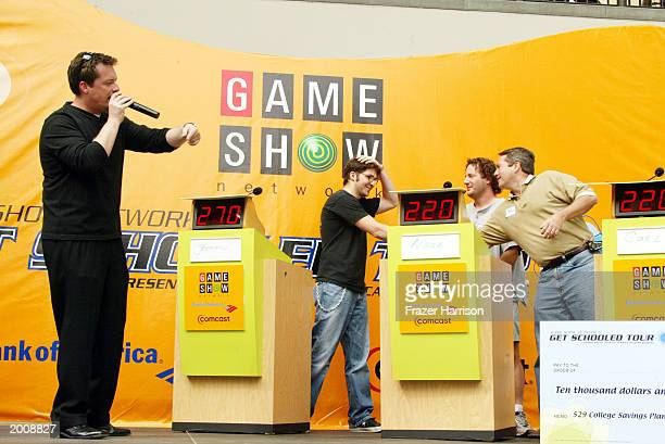 Television host Todd Newton for the Game Show Network 'Get Schooled Tour,' where contestants battled it out for $10,000 toward college tuition speaks...