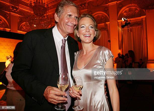Television host Ulrich Wickert and his wife Julia Jaekel editorinchief of women's magazine 'Brigitte' attend the Prix Veuve Clicquot for Entrepreneur...