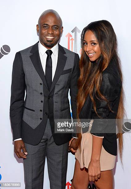 Television host Wayne Brady and girlfriend Marissa attend CBS Daytime After Dark at The Comedy Store on October 8 2013 in West Hollywood California