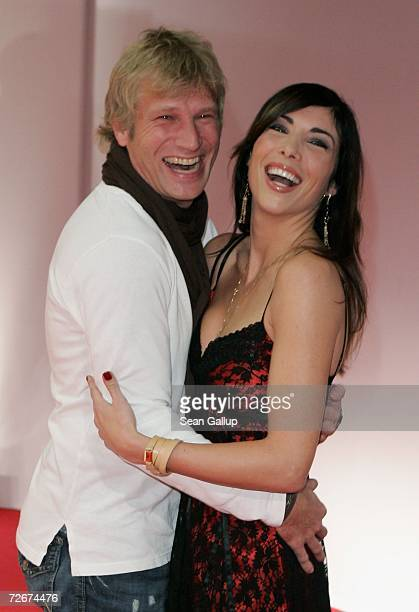 Television hostess Alexandra Polzin and friend Gerhard Leinauer the Tribute to Bambi charity gala traditionally held a night before the annual Bambi...