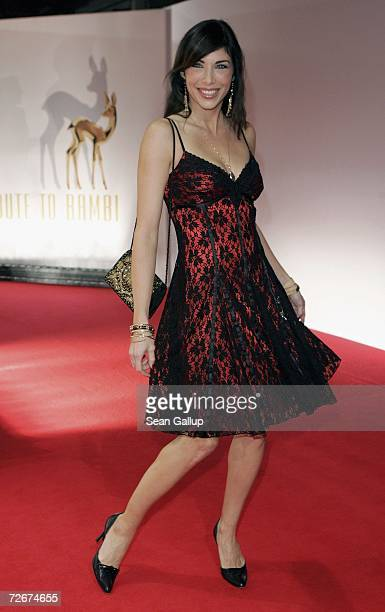 Television hostess Alexandra Polzin attends the Tribute to Bambi charity gala traditionally held a night before the annual Bambi Awards on November...