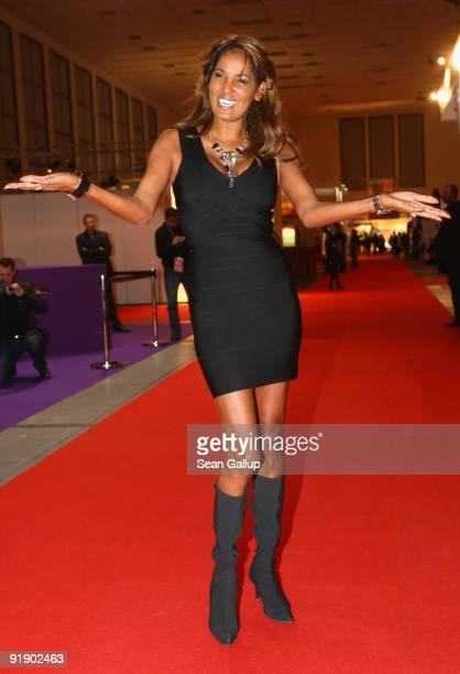 Television hostess and singer Nadja Abd el Farrag alias 'Naddel' and this year's face of the Venus erotic trade fair attends the fair's press and...