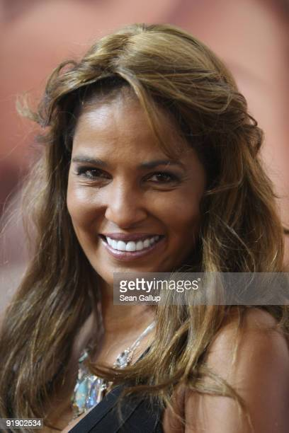 Television hostess and singer Nadja Abd el Farrag alias Naddel and this year's face of the Venus erotic trade fair attends the fair's press and...