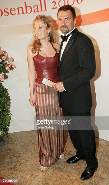 Television hostess Barbara Schoeneberger and friend Mathias Krahl attend the Rosenball Charity Ball at the Intercontinental Hotel May 27 2006 in...