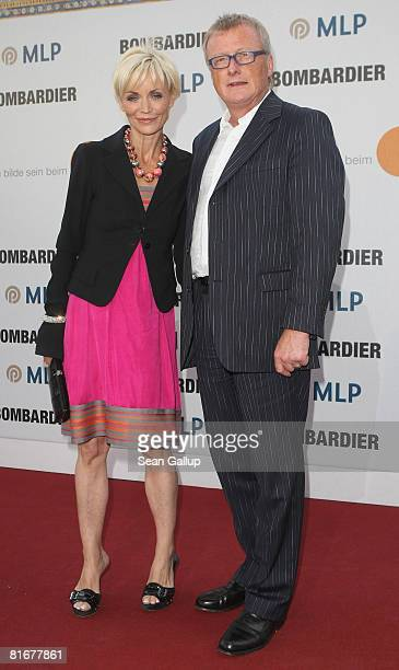 Television hostess Christiane Gerboth and her husband HansUlrich Joerges attend the ZDF Summer Party on June 23 2008 in Berlin Germany