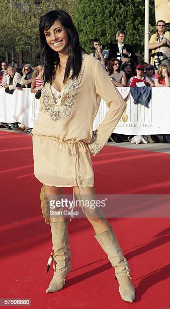 Television hostess Collien Fernandes arrives at the German Film Awards at the Palais am Funkturm May 12 2006 in Berlin Germany
