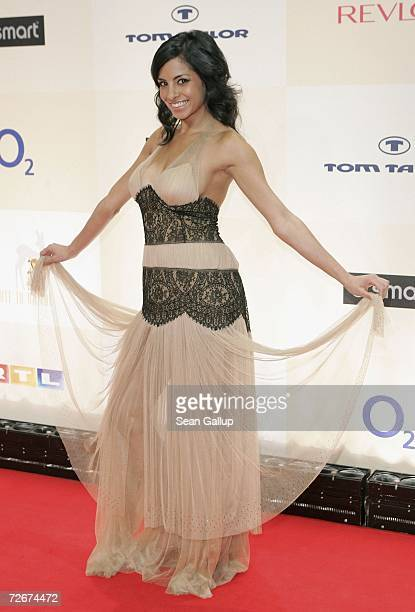 Television hostess Collien Fernandes attends the Tribute to Bambi charity gala traditionally held a night before the annual Bambi Awards on November...