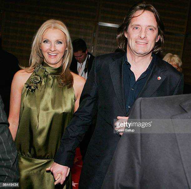 Television hostess Frauke Ludowig and her husband Kai Roeffen attend the afterparty at the Herz fuer Kinder television charity gala December 17 2005...