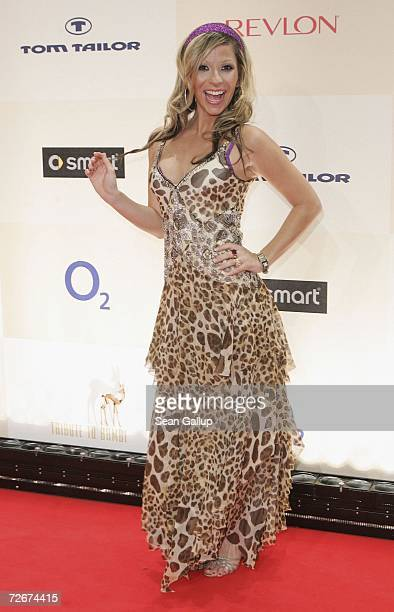 Television hostess Guelcan Karahanci attends the Tribute to Bambi charity gala traditionally held a night before the annual Bambi Awards on November...