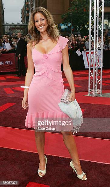 RTL television hostess Mareile Hoeppner arrives for the German premiere of 'War of the Worlds' at the Theater am Potsdamer Plaz June 14 2005 in...