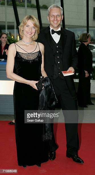 Television hostess Marietta Slomka and television host Christof Lang attend the Rosenball Charity Ball at the Intercontinental Hotel May 27 2006 in...