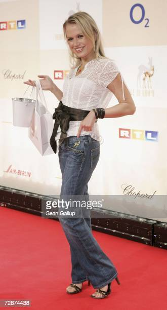 Television hostess Nova Meierhenrich attends the Tribute to Bambi charity gala traditionally held a night before the annual Bambi Awards on November...