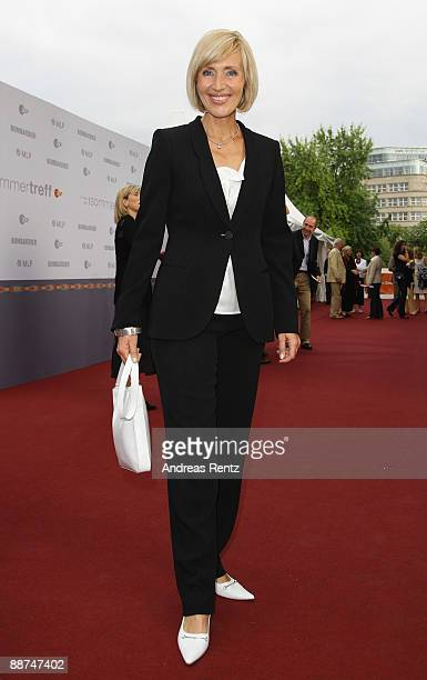 Television hostess Petra Gerster attends the ZDF summer reception at Neue Nationalgalerie on June 29, 2009 in Berlin, Germany.