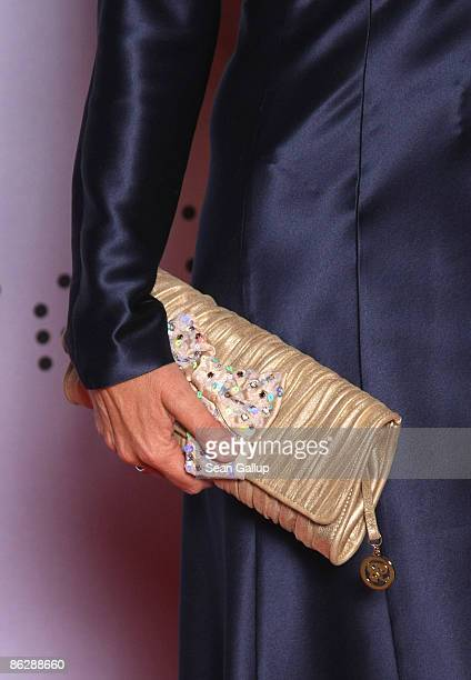 Television hostess Petra Gerster carries a handbag as she attends the Sustainability Award 2009 at the German Historical Museum on April 29, 2009 in...