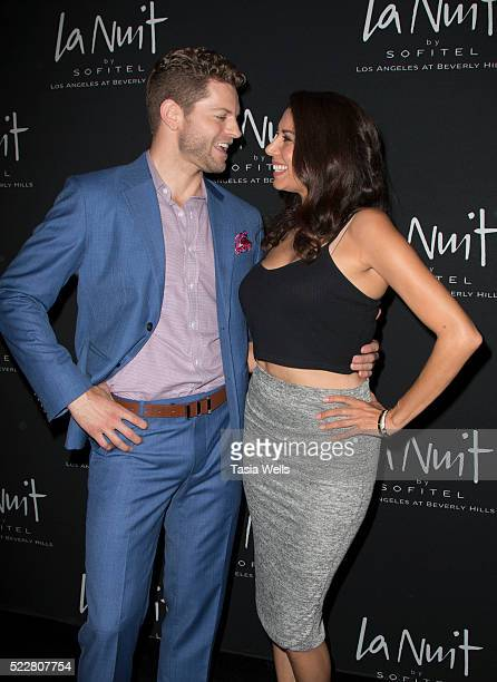 Television hosts Jaymes Vaughan and Viviana Vigil attend the La Nuit launch party at the Sofitel Los Angeles at Sofitel Los Angeles At Beverly Hills...