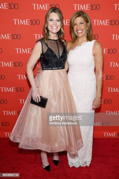 Television hosts Savannah Guthrie and Hoda Kotb attend the 2018 Time 100 Gala at Jazz at Lincoln Center on April 24 2018 in New York City