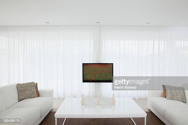 Televisão na moderna Sala de Estar