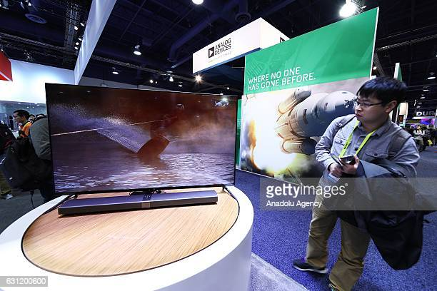8K television is on display during the 2017 Consumer Electronics Show in Las Vegas Nevada USA on January 08 2017