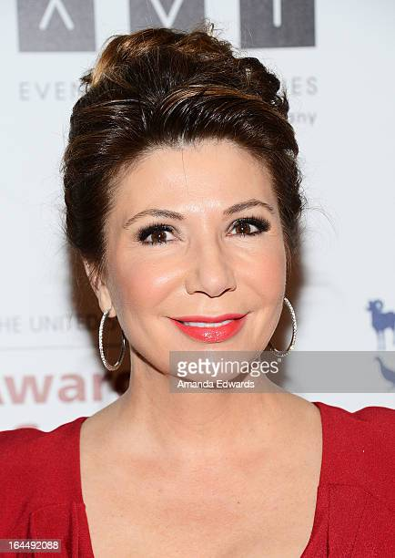 Television journalist Ana Garcia arrives at The Humane Society's 2013 Genesis Awards Benefit Gala at The Beverly Hilton Hotel on March 23 2013 in...