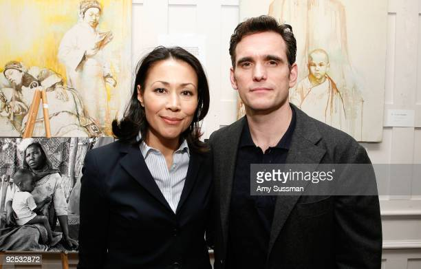 """Television journalist Ann Curry and actor Matt Dillon attend Refugees International's """"Images of Tragedy and Hope in Sudan"""" at The National Arts Club..."""