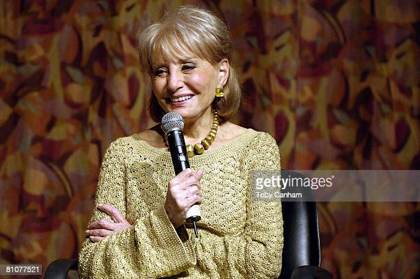Television journalist Barbara Walters participates in Town Hall Los Angeles' Writers Bloc Q&A at her book signing for 'Audition: A Memoir' held at...