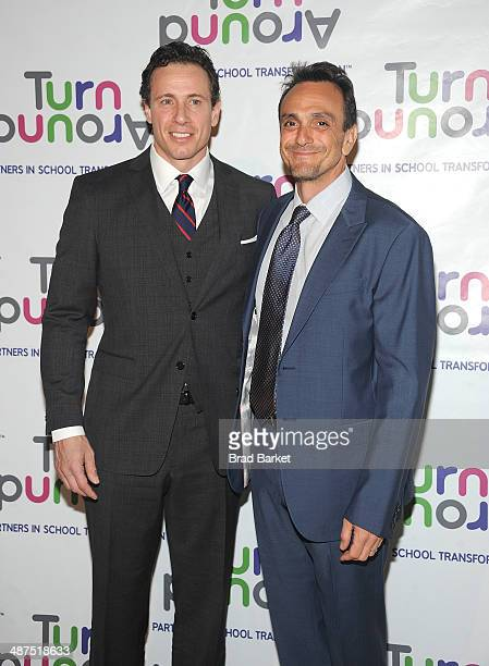 Television journalist Chris Cuomo and Hank Azaria attend the Turnaround For Children's 5th Annual Impact Awards Dinner at Cipriani 42nd Street on...