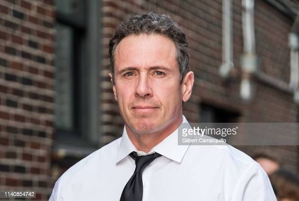Television journalist Chris Cuomo is seen arriving at 'The Late Show With Stephen Colbert' at the Ed Sullivan Theater on May 2 2019 in New York City
