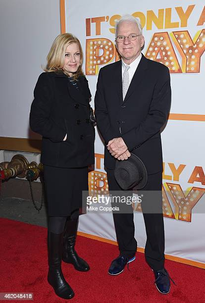 Television Journalist Diane Sawyer and Steve Martin attend 'It's Only A Play' Broadway ReOpening Night at The Bernard B Jacobs Theatre on January 23...
