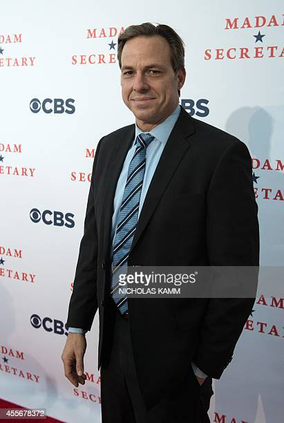 Television journalist Jake Tapper poses at the premiere of new television series 'Madam Secretary' in Washington on September 18 2014 AFP...