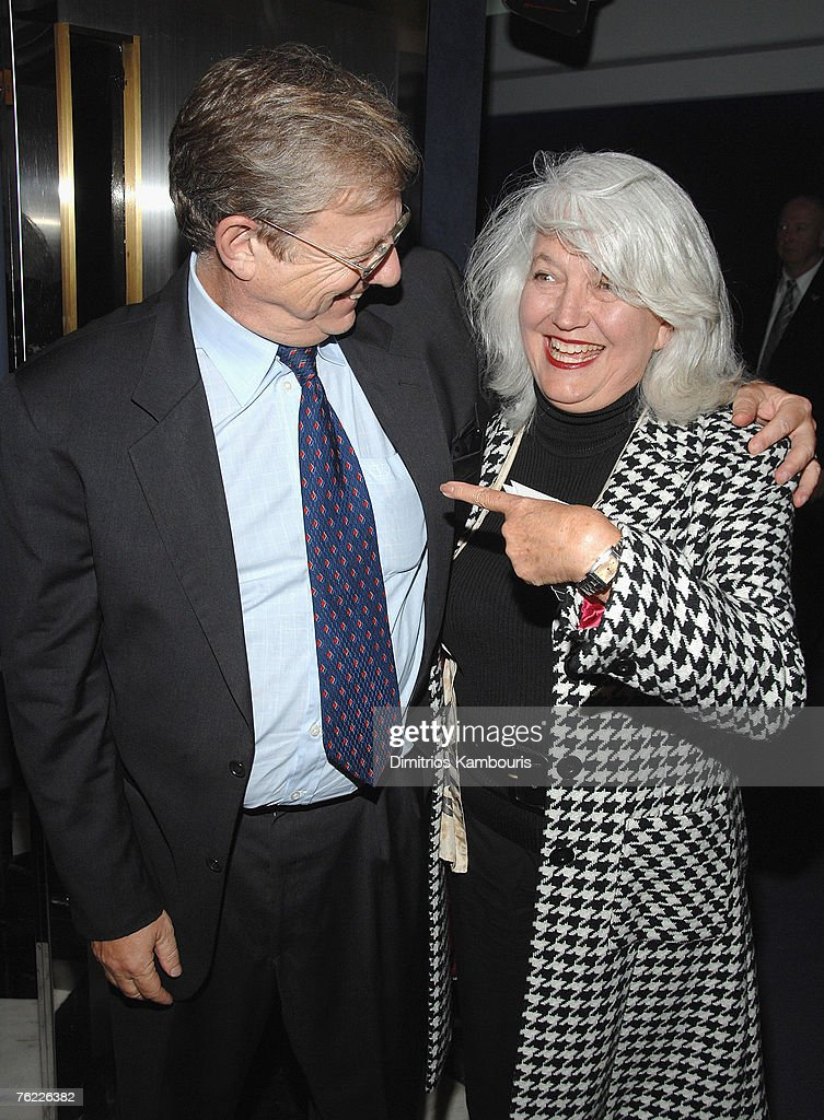 Television journalist Jeff Greenfield and writer Ellen Levine arrive during the premiere of 'The Hunting Party' at the Paris Theater on August 22, 2007 in New York City.