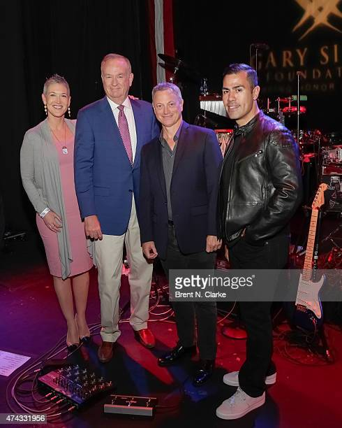 Television journalist Jennifer Griffin, political commentator Bill O'Reilly, actor/musician Gary Sinese and actor/singer J.W. Cortes attend the Rock...