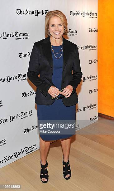 Television journalist Katie Couric attends the 10th Annual New York Times Arts Leisure Weekend photocall at the Times Center on January 6 2011 in New...