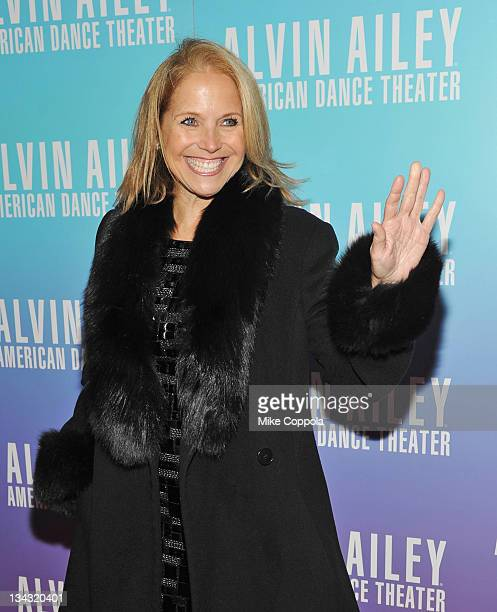Television journalist Katie Couric attends the 2011 Alvin Ailey American Dance Theater's opening night gala at New York City Center on November 30...