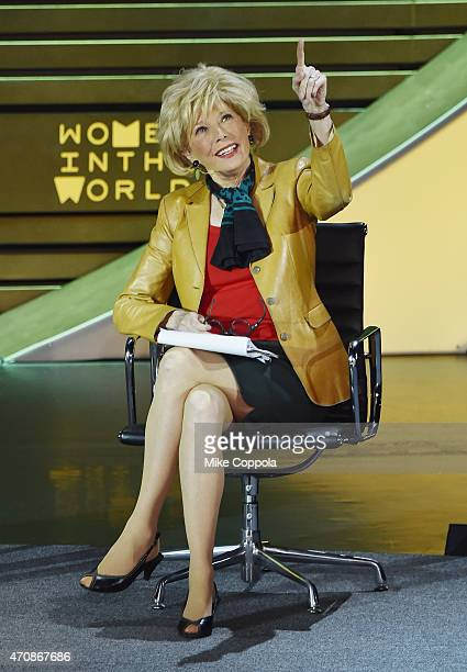 Television journalist Lesley Stahl at the speaks the Women In The World Summit on April 23 2015 in New York City