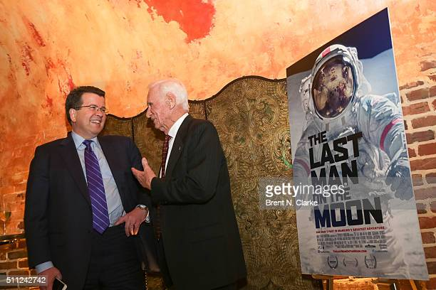 """Television journalist Neil Cavuto and former Apollo astronaut Captain Gene Cernan attend """"The Last Man on the Moon"""" New York screening held at the..."""