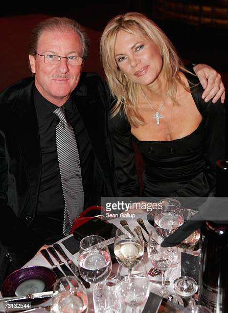 Television journalist Nina Ruge and her husband Wolfgang Reitzle attend the Kitz Race Party after the Hahnenkamm slalom races January 27 2007 in...