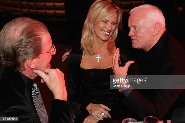 Television journalist Nina Ruge, her husband Wolfgang Reitzle and fashion designer Werner Baldessarini attend the Kitz Race Party after the...