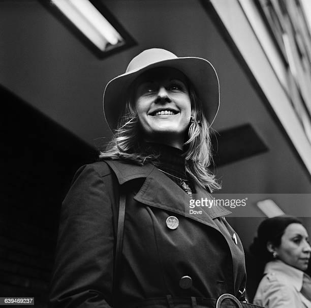Television journalist Pia Lindstrom, daughter of actress Ingrid Bergman, at London Airport, UK, 22nd May 1971.