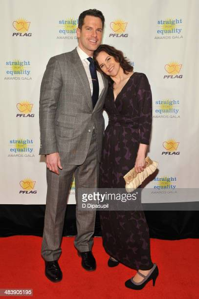 Television journalist Thomas Roberts and actress Ally Sheedy attend the PFLAG National Straight For Equality Awards at Marriott Marquis Times Square...