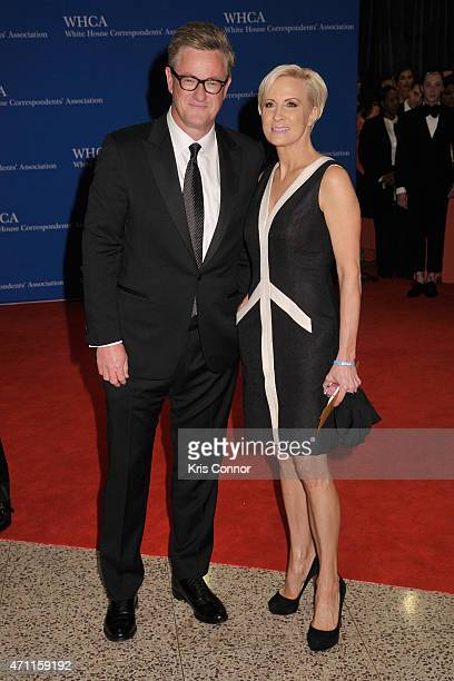 Television journalists Joe Scarborough and Mika Brzezinski attend the 101st Annual White House Correspondents' Association Dinner at the Washington...