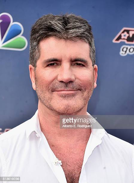 Television judge/producer Simon Cowell attends NBC's America's Got Talent Season 11 Kickoff at Pasadena Civic Auditorium on March 3 2016 in Pasadena...