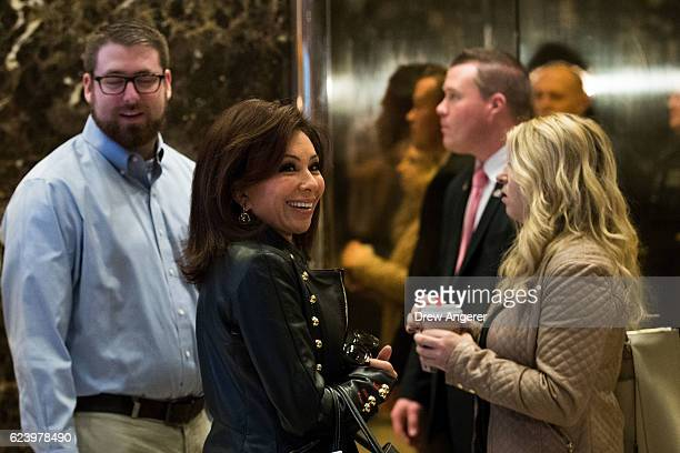 Television legal analyst Jeanine Pirro arrives at Trump Tower November 17 2016 in New York City Presidentelect Donald Trump and his transition team...