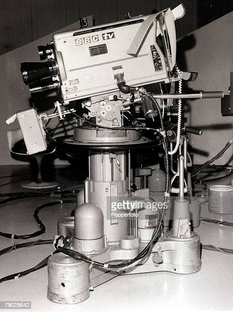 Television, London, England, 19th April 1966, A BBC rostrum camera at the BBC's White City studios
