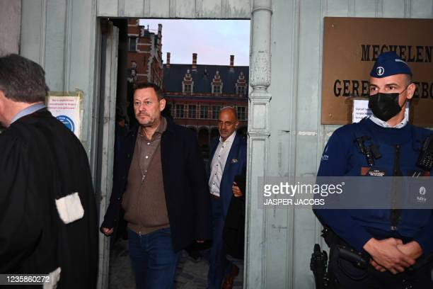 Television maker Bart De Pauw leaves after a session of the Criminal Court in Mechelen in the trial of television producer Bart De Pauw, accused of...
