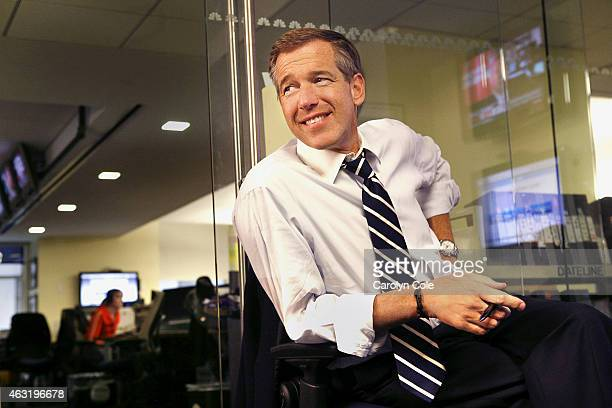 Television news anchor Brian Williams is photographed for Los Angeles Times in New York United States PUBLISHED IMAGE CREDIT MUST BE Carolyn Cole/Los...
