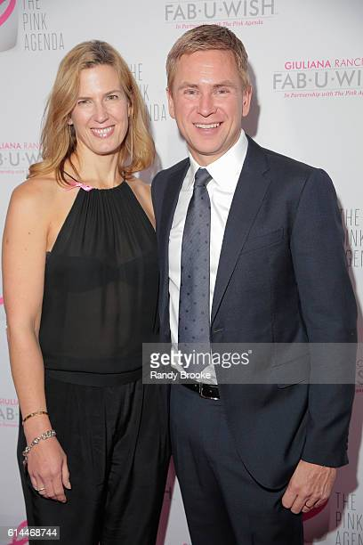 NY1 television news anchor host writer actor and broadcast journalist Pat Kiernan poses with his wife Dawn on the pink carpet during The Pink Agenda...
