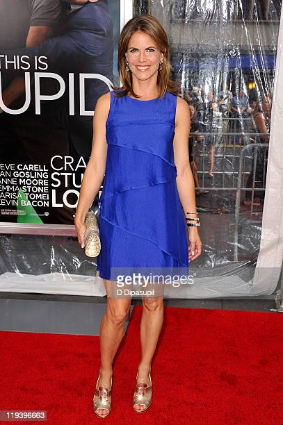 Television news anchor Natalie Morales poses on the red carpet at the Crazy Stupid Love World Premiere at the Ziegfeld Theater on July 19 2011 in New...